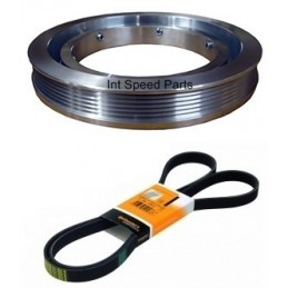 mercedes tuning pulley kit m111 motor 185mm 192mm. Black Bedroom Furniture Sets. Home Design Ideas